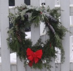 Holiday Wreath on Gate