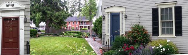 Door decoration and an in-town garden