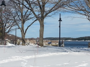 Bath Maine Waterfront Park in Winter