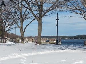 Bath Maine Waterfront Park in Winter