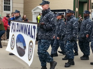 Bath ME Zumwalt Crew in Parade