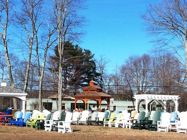 Gazebos and Pergolas and Adirondack Chairs at Sweet Dreams in Brunswick ME 04011